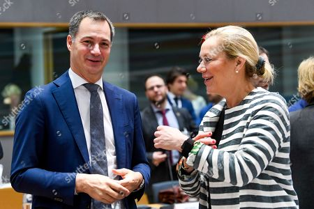 Belgium's Minister for Development Alexander De Croo and Dutch Minister for Foreign Trade and Development Cooperation Sigrid Kaag