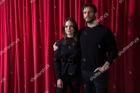 Sam Claflin, Aisling Franciosi. Actors Sam Claflin and Aisling Franciosi pose for photographers upon arrival at a screening for 'The Nightingale', ahead of a Q&A at the Curzon Soho, central London