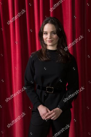 Aisling Franciosi poses for photographers upon arrival at a screening for 'The Nightingale', ahead of a Q&A at the Curzon Soho, central London