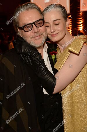 Stock Image of David Downton and Erin O'Connor