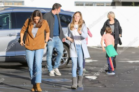Ben Affleck, Jennifer Garner and their children, Seraphina Affleck, Samuel Affleck, and Violet Affleck are seen along with Ben's mother, Christine Anne Boldt on their way to the cinema