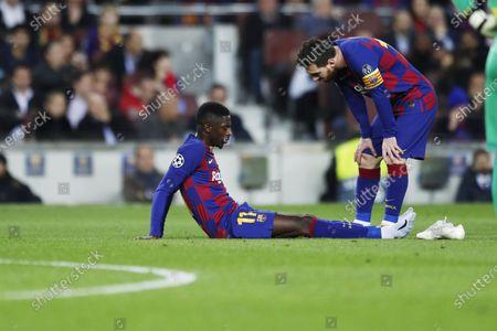 Ousmane Dembele, Lionel Messi of Barcelona