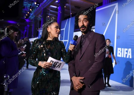 Yinka Bokinni and Dev Patel
