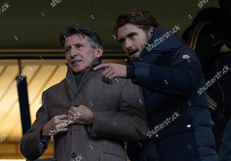 Lord Sebastien Coe at Stamford Bridge