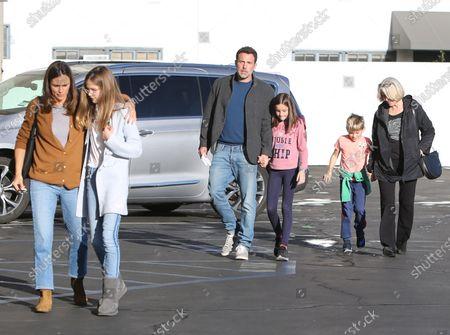 Stock Photo of Ben Affleck, Jennifer Garner, Seraphina Affleck, Violet Affleck, Samuel Affleck