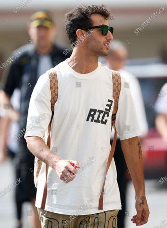 Australian Formula One driver Daniel Ricciardo of Renault walks at the paddock of Yas Marina Circuit during Abu Dhabi Formula 1 Grand Prix 2019 in Abu Dhabi, United Arab Emirates, 28 November 2019. The Formula One Grand Prix of Abu Dhabi will take place on 01 December 2019.