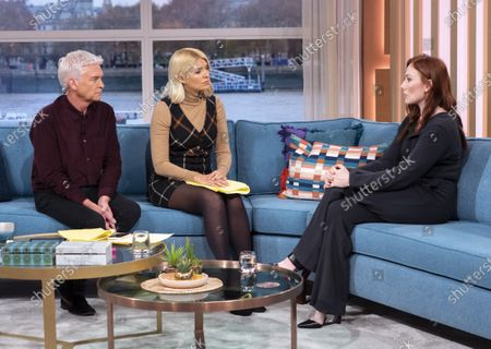 Phillip Schofield and Holly Willoughby with Rosie Marcel