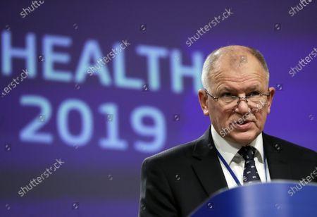 Editorial image of EU Commission Health in the EU report 2019, Brussels, Belgium - 28 Nov 2019