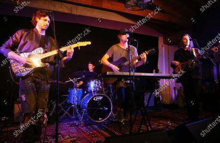 Stock Image of James Burnett, David Sandborg, Wesley Ritenour, Dane Sandborg of Music Band 'Little Dume'