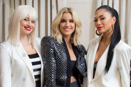 Kimberley Wyatt, Ashley Roberts, Nicole Scherzinger, Pussycat Dolls. Band members from left to right, Kimberley Wyatt, Ashley Roberts and Nicole Scherzinger, of the Pussycat Dolls, pose for portraits at a central London hotel, following an interview with the Associated Press - before they reunite for The X Factor: Celebrity final this weekend