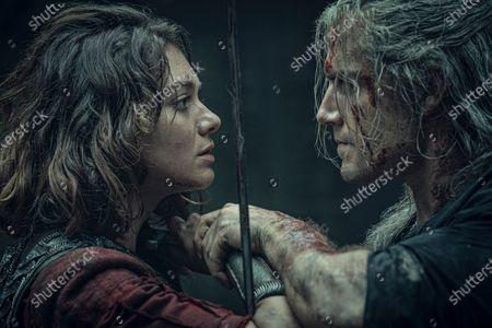 Stock Photo of Emma Appleton as Princess Renfri and Henry Cavill as Geralt of Rivia