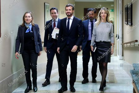 Editorial picture of Leader of the Spanish People's Party, Casado picks up his deputy certificate, Madrid, Spain - 28 Nov 2019