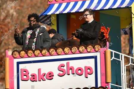 Stock Picture of Questlove and Jimmy Fallon ride on a float