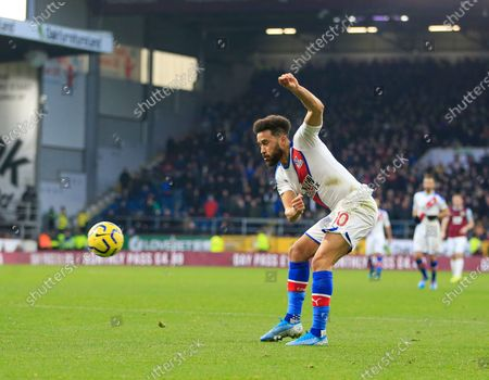 30th November 2019, Turf Moor, Burnley, England; Premier League, Burnley v Crystal Palace : Andros Townsend (10) of Crystal Palace crosses the ballCredit: Conor Molloy/News Images