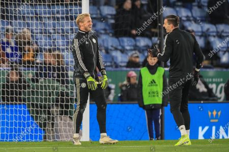 1st December 2019, King Power Stadium, Leicester, England; Premier League, Leicester City v Everton : Kasper Schmeichel (1) of Leicester City during the gameCredit: Mark Cosgrove/News Images