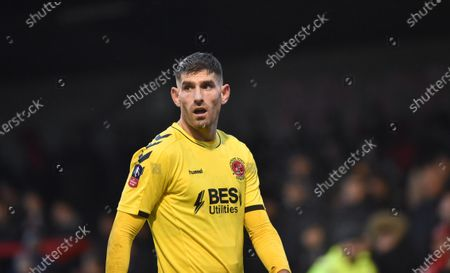 Ched Evans of Fleetwood during the Emirates FA Cup 2nd Round match between Crawley Town and Fleetwood Town at the People's Pension Stadium Crawley , UK - 01 December 2019