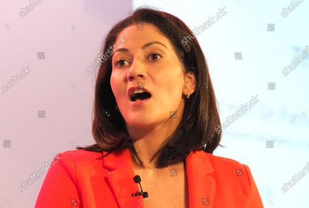 Mishal Husain from the BBC acting as moderator for the conference