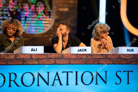 Alexandra Mardell, Jack P Shepherd and Sue Nicholls.