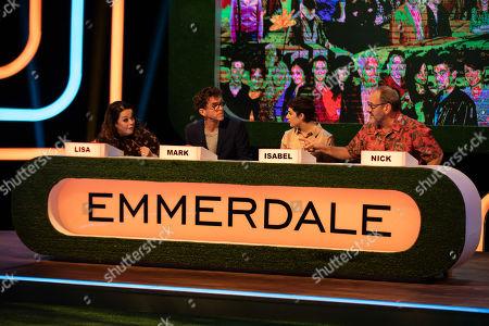 Editorial image of 'The Big Soap Quiz: Coronation Street vs Emmerdale' TV show, UK - Dec 2019