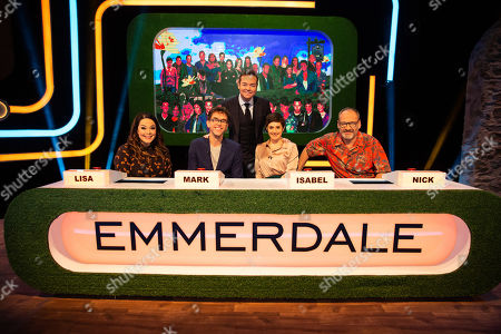 Stock Picture of Lisa Riley, Mark Charnock, Stephen Mulhern, Isabel Hodgins and Nick Miles.
