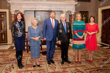 Stock Image of Princess Beatrix, King Willem-Alexander, John Adams, Queen Maxima