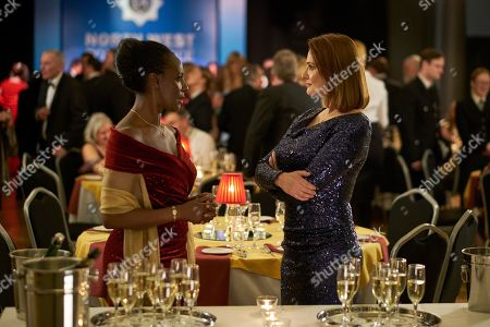 Jacqueline Boatswain as Frances Holland and Sarah Parish as Bancroft.