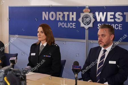 Stock Picture of Sarah Parish as Bancroft and Lee Boardman as George Morris.