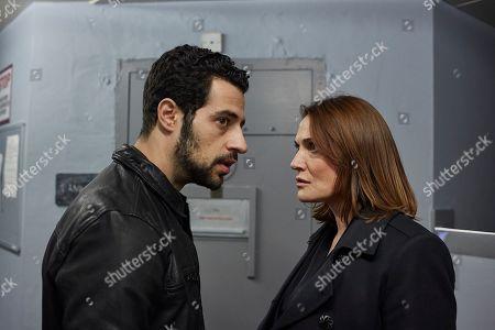 David Avery as Jake Harper and Sarah Parish as Bancroft.