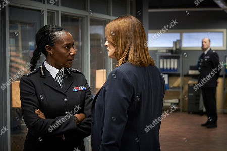 Jacqueline Boatswain as Frances Holland and Sarah Parish as Bancroft.