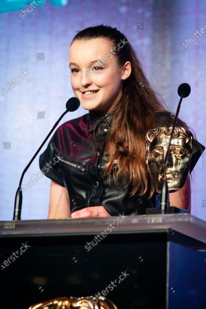 Bella Ramsey, winner of the Young Performer award for The Worst Witch