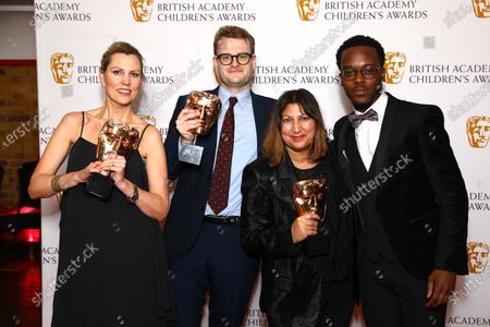 Editorial picture of British Academy Children's Awards, Press Room, The Brewery, London, UK - 01 Dec 2019