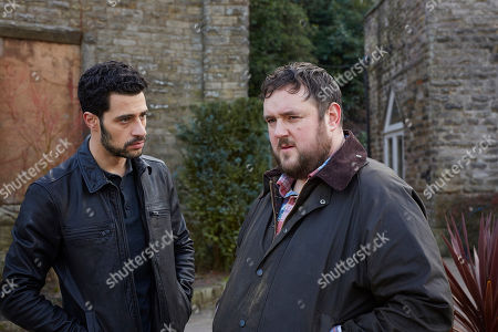 Stock Image of David Avery as Jake Harper and Dominic Doughty as Martin Mullen.