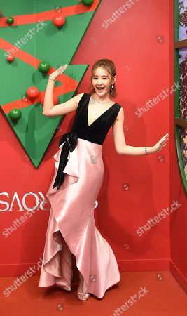 Amber An attends a brand promotion Christmas activity in Taipei