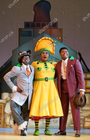 Kat B as Uncle Vincent the Cat, Clive Rowe as Sarah the Cook, Tarinn Callender as Dick