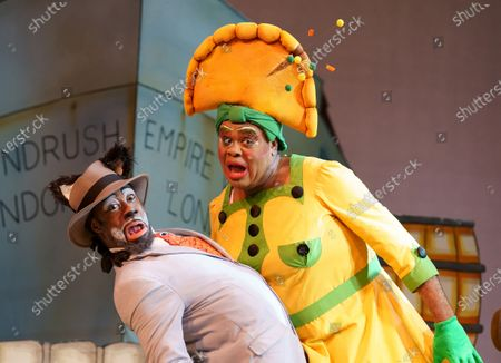 Kat B as Uncle Vincent the Cat, Clive Rowe as Sarah the Cook,