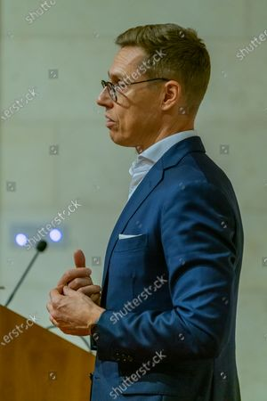 Stock Picture of Alexander Stubb, Vice-President of the European Investment Bank (EIB) and former Prime Minister of Finland. Speaks on new European Disorder, hosted by The Oxford Guild.
