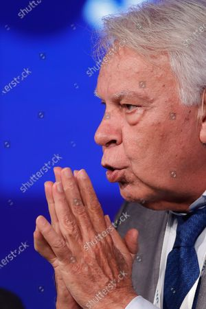 Former Spanish Prime Minister Felipe Gonzalez (1982-1996), participates in the annual conference of the Argentine Industrial Union on the construction of political consensus in the Argentina based on the Spanish experience, in Buenos Aires, Argentina, 28 November 2019.