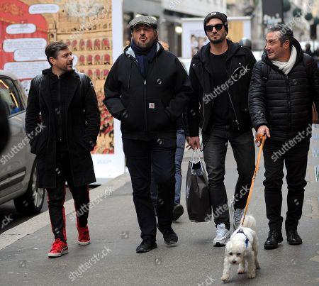 Christian De Sica with friends