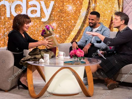Stock Image of Lorraine Kelly and Craig David with Ben Shephard