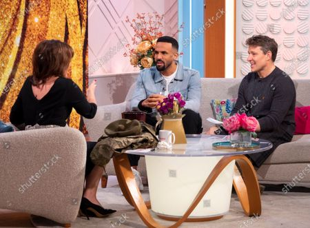 Stock Picture of Lorraine Kelly and Craig David with Ben Shephard