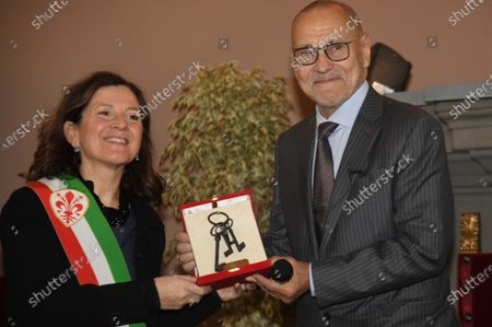 Editorial image of Director Andrej Koncalovskij receives keys to the city of Florence, Italy - 28 Nov 2019