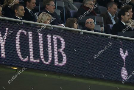 Stock Picture of Daniel Levy (Spurs chairman), right, looks perplexed after the second Bournemouth goal at the Tottenham Hotspur v Bournemouth English Premier League match, at the New White Hart Lane, London, UK on November 30, 2019.