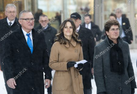 Princess Sofia of Sweden attends the inauguration of the Alvdalen new school