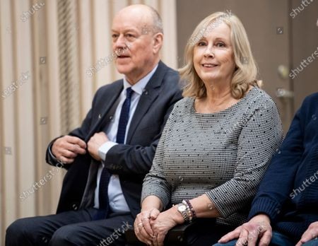 Stock Photo of Erik and Marie Hellqvist attend the inauguration of the Alvdalen new school