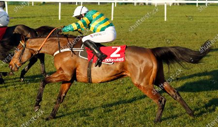 CHAMP (Barry Geraghty) wins The Ladbrokes Novices Chase Newbury