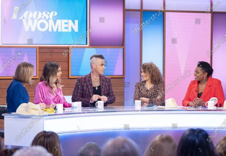 Kaye Adams, Ayda Williams, Robbie Williams, Nadia Sawalha and Brenda Edwards