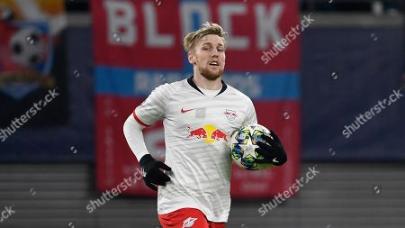 Leipzig's Emil Forsberg during the Champions League group G soccer match between RB Leipzig and Benfica in Leipzig, Germany