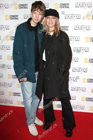 Stock Picture of Natalie Appleton and son