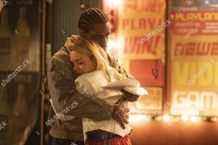 Stock Picture of Mustafa Shakir as Big Mike and Emily Meade as Lori Madison