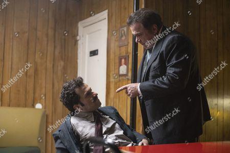 Stock Photo of David Krumholtz as Harvey Wasserman and Michael Rispoli as Rudy Pipilo